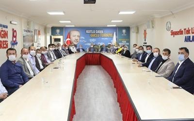 Mazbatayı alıp, ilk ziyareti Başkan Ellibeş'e yaptılar