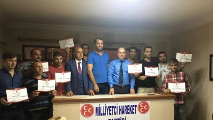 MHP ÇAYIROVA'DA MAHALLE BAŞKANLARI ATANDI