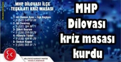 MHP Dilovası Korona kriz masası kurdu.