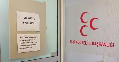 MHP il teşkilatı yasak getirdi