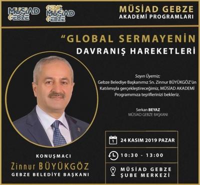 MÜSİAD akademinin bu haftaki konuğu başkan Büyükgöz