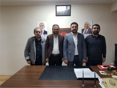 Mustafa Türel'e ziyaretler devam ediyor.