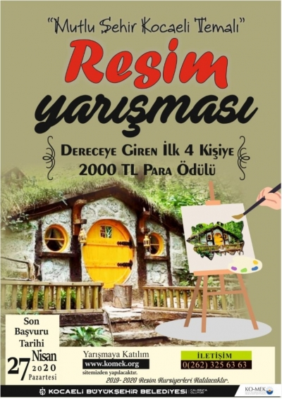"""""""Mutlu Şehir Kocaeli"""" resim yarışması"""