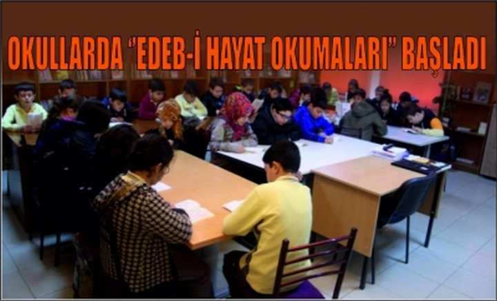 Okullarda ''Edeb-i Hayat Okumaları'' başladı
