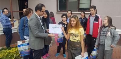 Özel öğrencilere uygulamalı deprem eğitimi