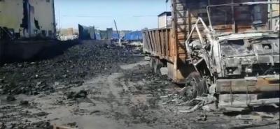 Palet fabrikası yandı