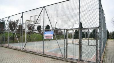 Parklardaki Spor Alanları Önlem Amaçlı Kapatıldı