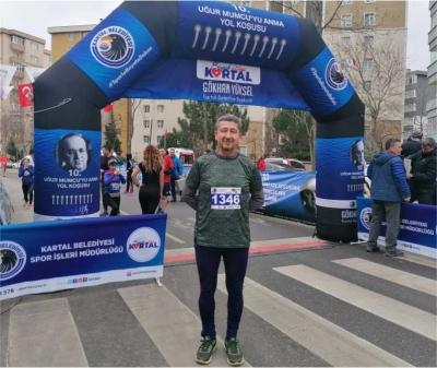 Rıdvan Şükür, 10. Uğur Mumcu Yol Koşusuna katıldı