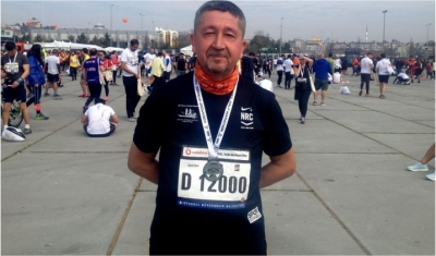 Rıdvan Şükür, 14. İstanbul Yarı Maratonunda koştu.