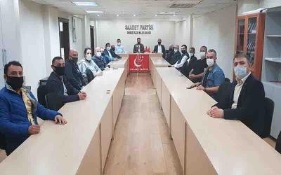 Saadet Partisi Gebze toplantılarına yeniden başladı.