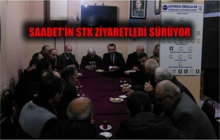 SAADET'İN STK ZİYARETLERİ SÜRÜYOR