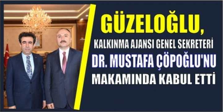 SAYIN VALİMİZ KALKINMA AJANSI GENEL SEKRETERİ DR. MUSTAFA ÇÖPOĞLU'NU KABUL ETTİ.