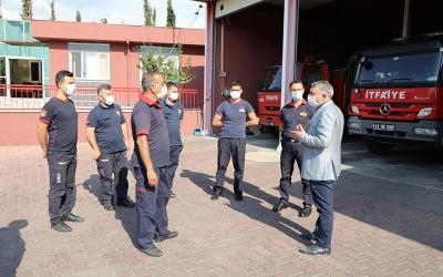Şayir'den itfaiye personeline ziyaret