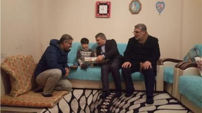 Şayir'den minik Yusuf'a sevindiren ziyaret