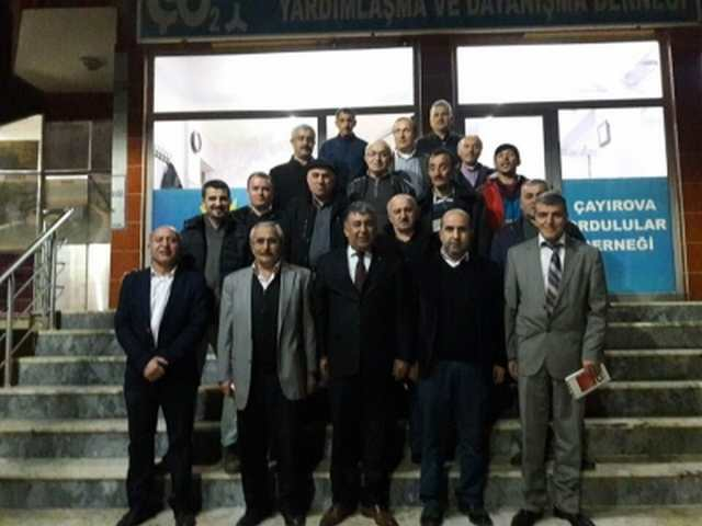 Selahattin Kaya Çayırova  Ordulular Derneğini  ziyaret etti