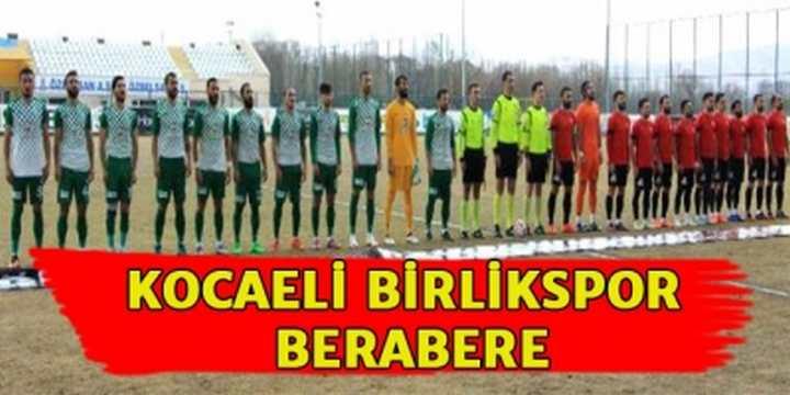 Sivas Belediyespor-Kocaeli Birlikspor: 1-1