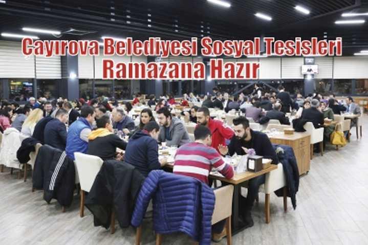Sosyal Tesisler Ramazana Hazır