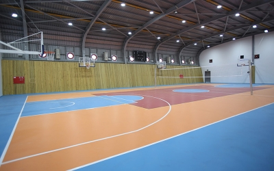Spor kompleksinde salon inşaatı tamamlandı