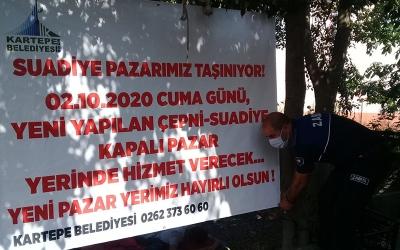 SUADİYE PAZARI YENİ KENT ÇARŞISINDA HİZMETE BAŞLIYOR
