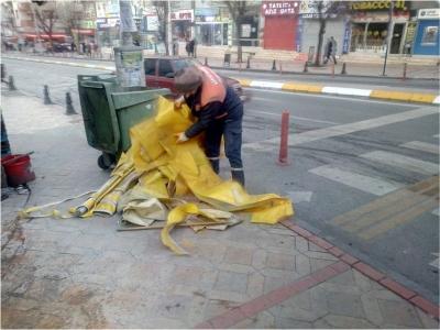 Temizlik işleri 7/24 kesintisiz çalışıyor