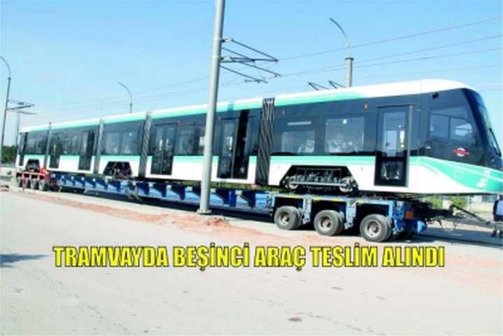 Tramvayda beşinci araç teslim alındı