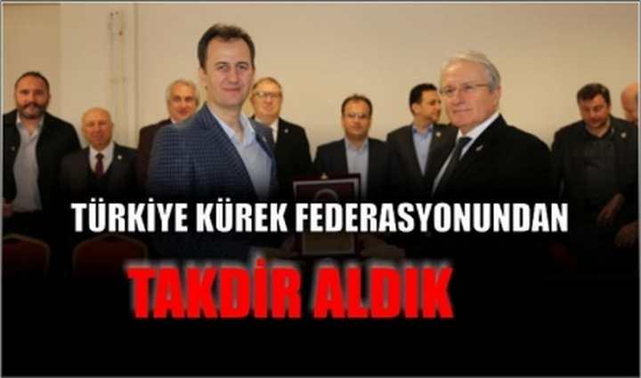 Türkiye Kürek Federasyonundan takdir aldık