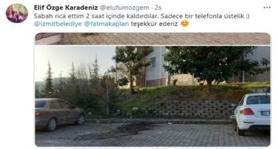 Vatandaş istedi, İzmit Belediyesi anında el attı