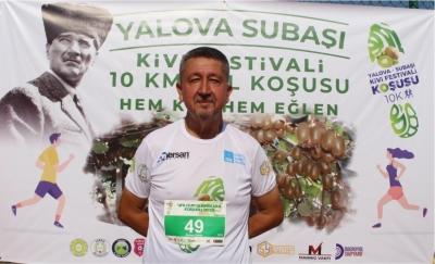 Yalova'da Kivi koşusuna katıldı