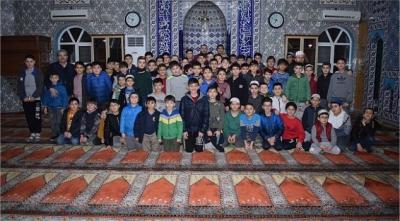 Yarıyıl tatilinde camiler çocukların